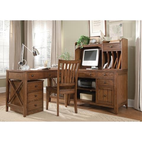 Hearthstone Rustic Oak 4-piece Desk
