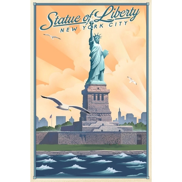 New York, New York - Statue of Liberty - Litho - Lantern Press Artwork (Art  Print - Multiple Sizes Available)