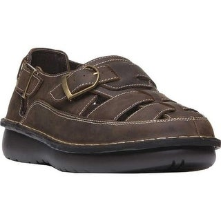 Propet Men's Villager Fisherman Sandal Brown Full Grain Leather