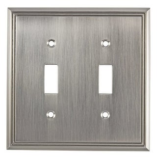 Richelieu BP8533 Double Contemporary Toggle Switch Plate from the Decora Collection