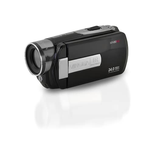 "Minolta MN80NV 1080p Full HD Night Vision Video Camcorder with 24.0 MP Still Image Resolution and 3"" Touch Screen LCD (Black)"