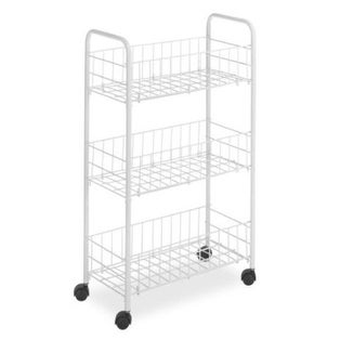 Whitmor 6023-396 3-Tier Rolling Household Cart, White