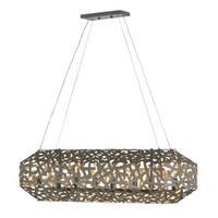"""Fredrick Ramond FR38704 Kestrel 8 Light 40"""" Wide Linear Chandelier - metallic matte bronze"""