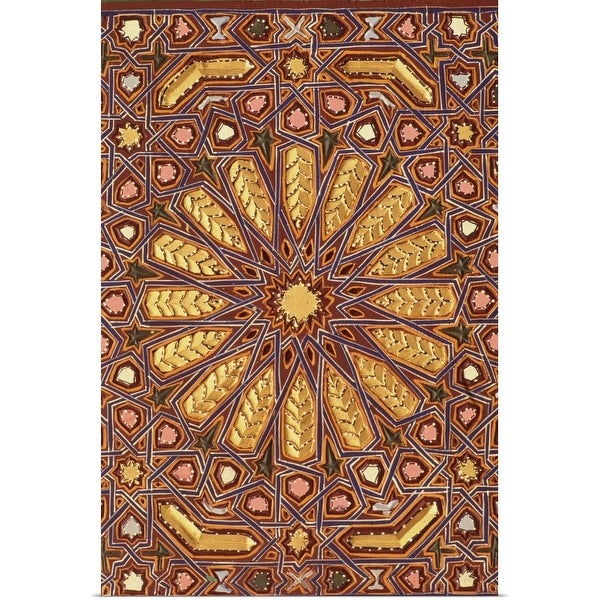 """""""Traditional Moroccan wood carving"""" Poster Print"""