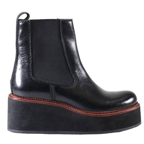 "Diba True She Nah Womens Boots Ankle Mid Heel 2-3"" - Black"