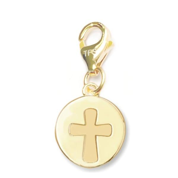 Julieta Jewelry Cross Disc Clip-On Charm
