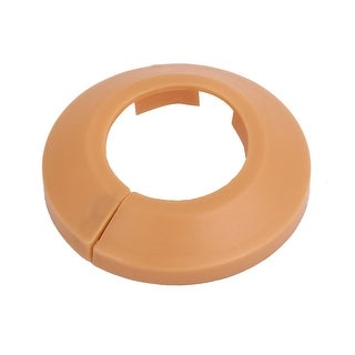32mm Plastic Wall Flange Radiator Water Pipe Cover Collar Light Orange
