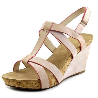 Taryn Rose Trini Open Toe Suede Wedge Heel
