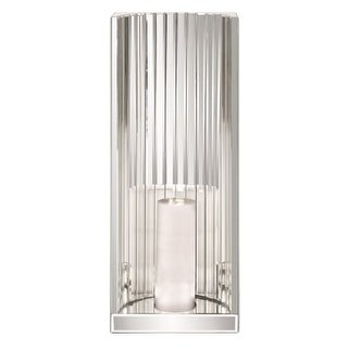 """Howard Elliott Faceted Mirror Wall Sconce 24"""" Tall Glass Candle Wall Sconce"""