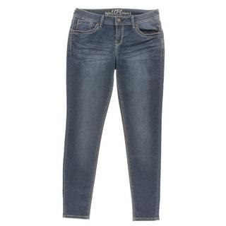 WallFlower Jeans Womens Skinny Jeans Medium Wash Comfort Waist - 11