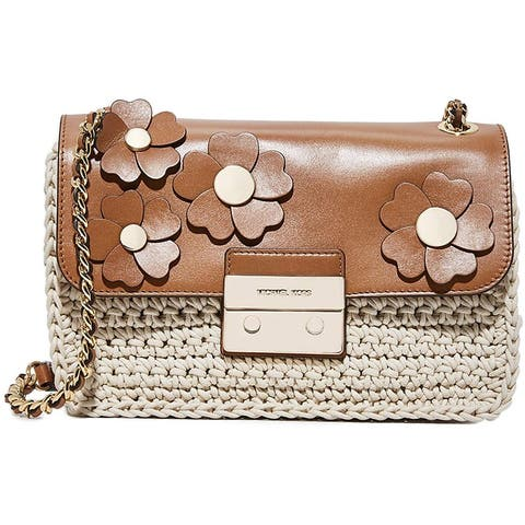 Michael Kors Flora Applique Sloan Large Chain Shoulder Bag