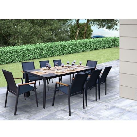 Montalcino 9 Pc Dining Set - Black