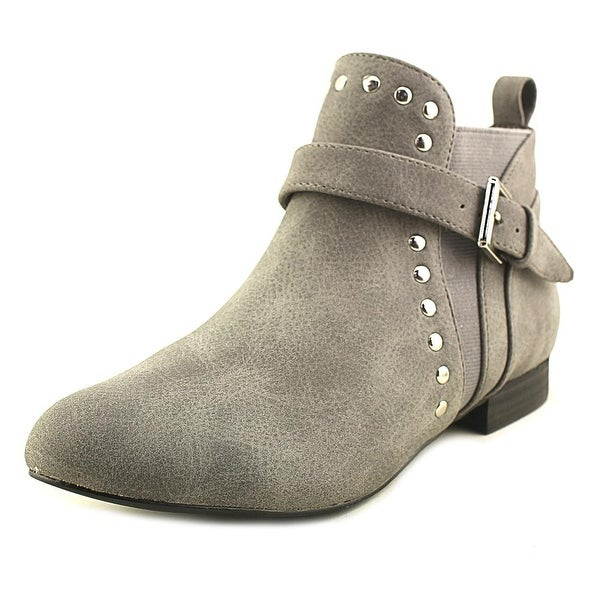 Restricted Pablo Women Pointed Toe Synthetic Gray Bootie