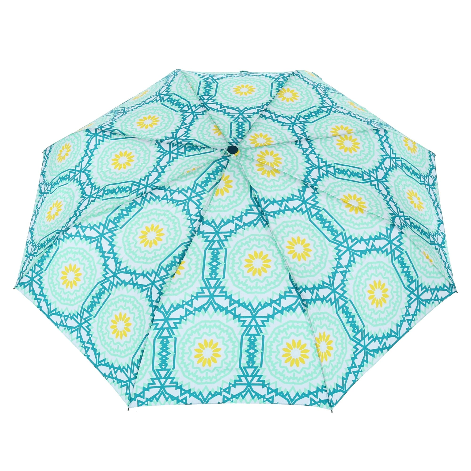 Sage Automatic Umbrellas Pattern with Leaves Environment Nature Simplicity Summer Spring Plants Garden Compact Automatic Open Close for Men and Women Traveler Reseda Green White