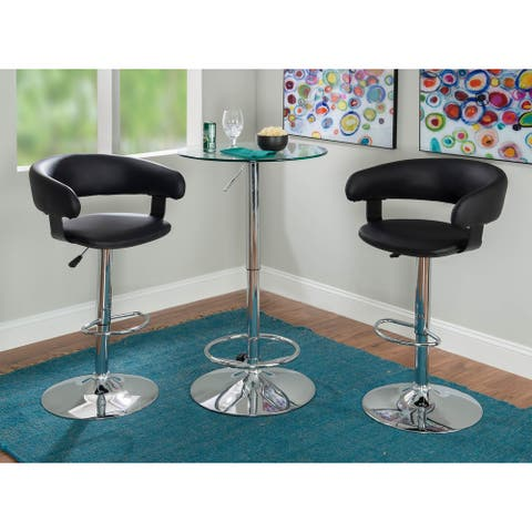 Roxie 3-piece Dining Pub Set with Height Adjustable Stools