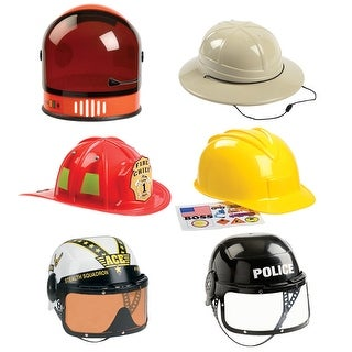6 Pc Helmet Astronaut Firefighter Armed Forces Police Constr Pith