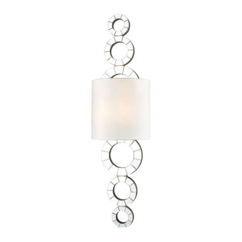 1-Light Wall Sconce With Half Shape Made Of Mirror - Contemporary Wall Sconce Mirror Finish