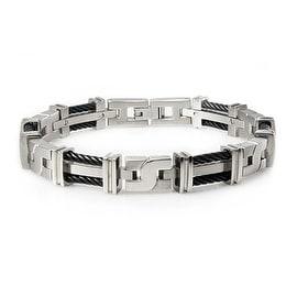 Double Cable Titanium Bracelet