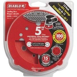 "Diablo 15Pk 5""100G Sanding Disc"