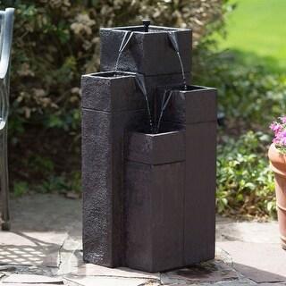 Modern Outdoor Garden 4-Tiered Fountain with Solar Pump