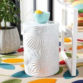 Link to Safavieh Kesha Indoor/ Outdoor Ivory Ceramic Decorative Garden Stool Similar Items in Outdoor Decor