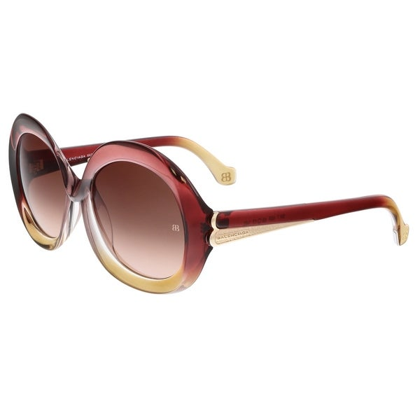 Balenciaga BA0007 68F Rose Gradient Round Sunglasses