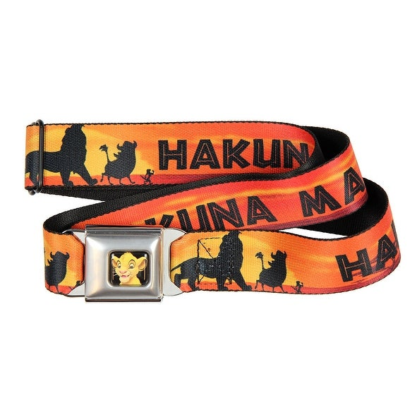 Disney Hakuna Matata The Lion King Movie One Size Youth - Adult Seatbelt Belts