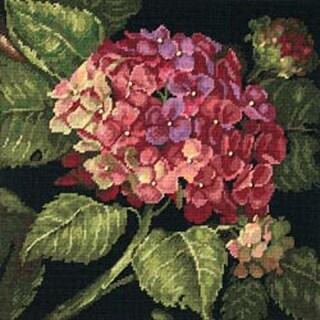 "Hydrangea Bloom Needlepoint Kit-14""X14"" Stitched In Wool"