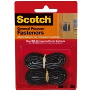 Scotch RF7711 Fabric Fasteners Strips Long, 3/4 x 18, Black