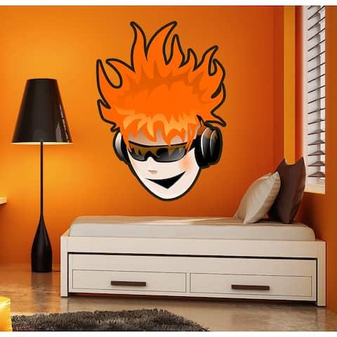 Teenage Musician Wall Decal, Teenage Musician Wall sticker, Teenage Musician wall decor