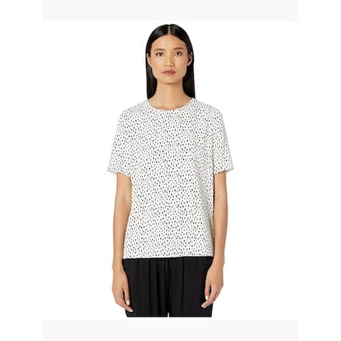 Adam Lippes Ivory Short Sleeve Blouse Top Size 4