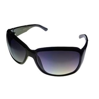 Kenneth Cole Reaction Womens Plastic Sunglass Black / Gradient Lenses KC1103 1B - Medium