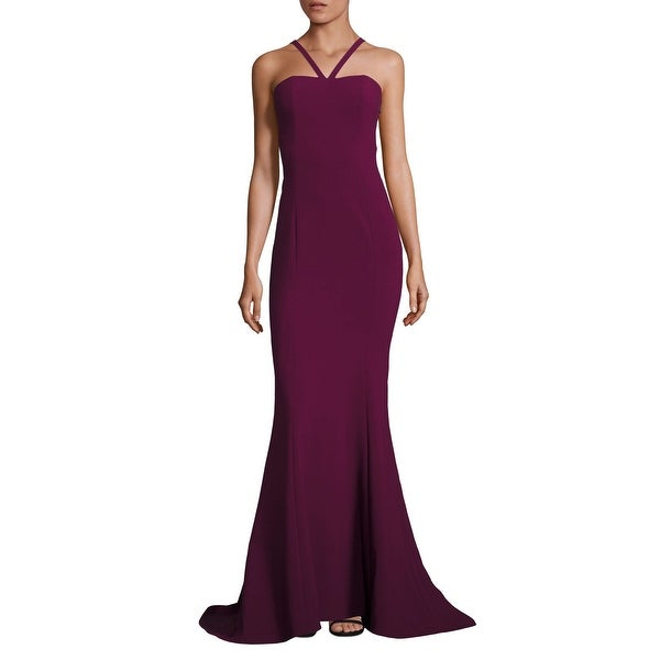 6c71d7db4f7b Shop Likely Seminole Mermaid Sleeveless Evening Gown Dress Plum ...
