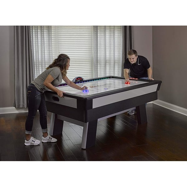 Atomic Top Shelf 7 5 Air Hockey Table With Arcade Style Play Model G04865w Black