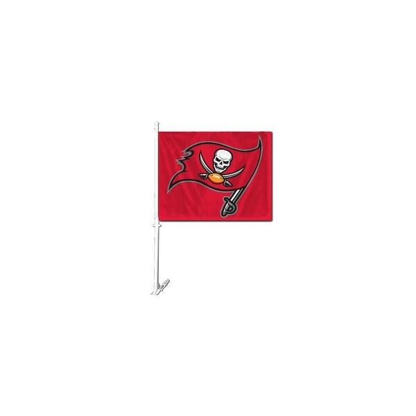 Fremont Die Inc Tampa Bay Bucaneers Car Flag With Wall Brackett Car Flag