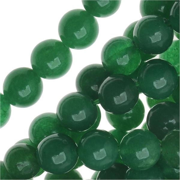 Dark Green Aventurine 6mm Round Beads / 15.5 Inch Strand