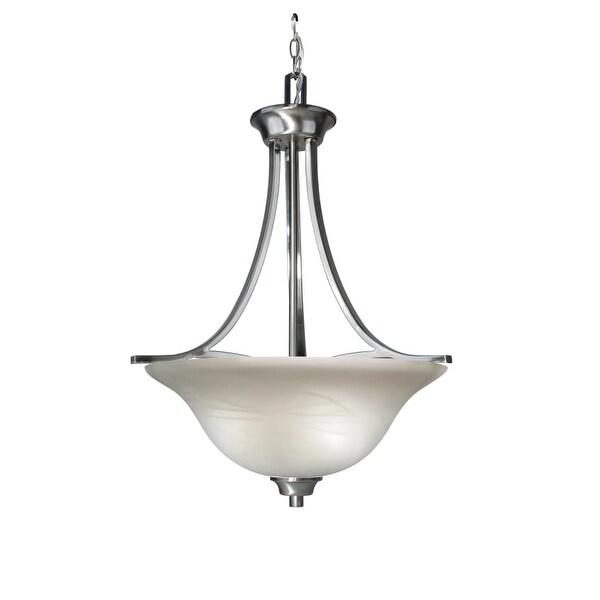 Woodbridge Lighting 21022 Marissa 3 Light Satin Nickel Pendant - Grey