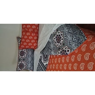 Greenland Home Fashions Medina Saffron Reversible Oversized 3-piece Quilt Set
