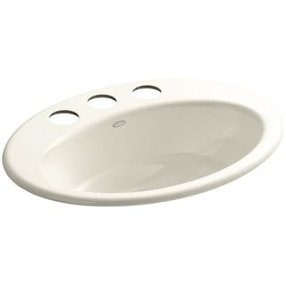 "Kohler K-2907-4U Thoreau 18-1/4"" Cast Iron Undermount Bathroom Sink with 1 Hole Drilled and Overflow"