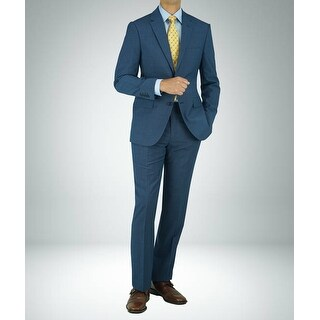 Link to Carlo Studio Blue Mirco Check Modern-Fit Suit Similar Items in Suits & Suit Separates