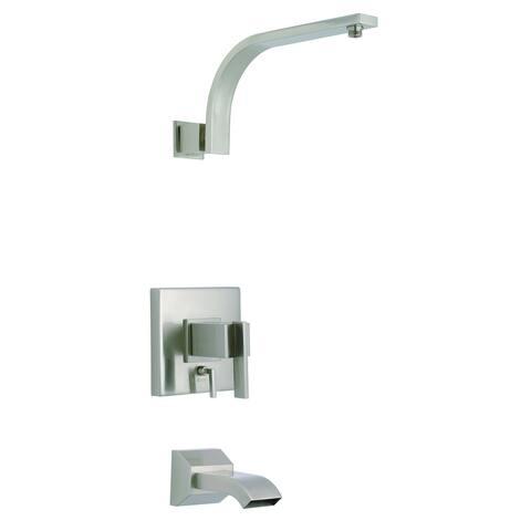 Sirius 1H Tub & Shower Trim Kit & Treysta Cartridge w/ Diverter on Valve Less Showerhead Brushed Nickel