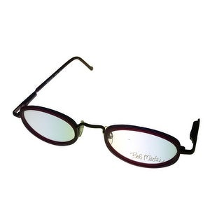 Bob Mackie Mens Opthalmic Eyeglass Red Oval Plastic #853 220 - Medium