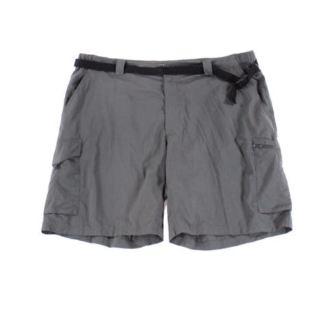 Columbia Men Gray 44 Omni-Shade Sun Protection Belted Cargo Shorts