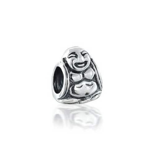 Asian Laughing Buddha Spiritual Mediation Charm Bead For Women 925 Sterling Silver Fits European Bracelet