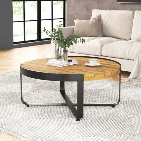 Eyre Outdoor Modern Industrial Acacia Wood Coffee Table by Christopher Knight Home