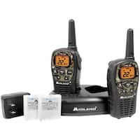 Midland Lxt535Vp3 24-Mile Camo Gmrs Radio Pair Value Pack With Drop-In Charger & Rechargeable Batteries