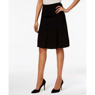 Kasper Deep Womens Petite Pleated A-Line Skirt