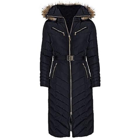 Michael Kors Black Down Maxi Coat