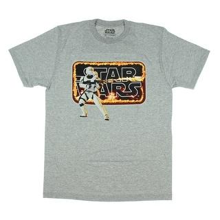 Star Wars The Force Awakens First Order Stormtrooper Mens T-Shirt Flametrooper