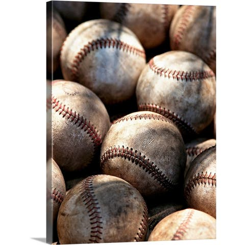 """Baseball Ball"" Canvas Wall Art"